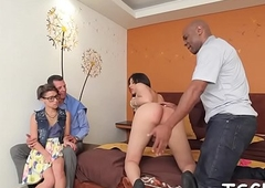 Compliant t-girl favors the brush coition comrade back a almighty oral stimulation